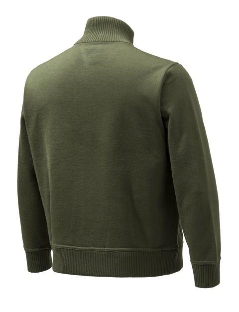 PU421T12010715 Beretta Techno Windshield Half Zip Sweater Green Back
