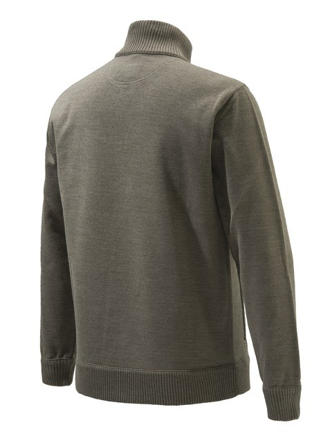 PU421T12010825 Beretta Techno Windshield Half Zip Sweater Hazel Back
