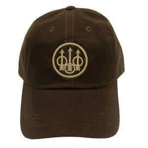 BC092025330801 Beretta Waxed Cotton Hat Brown