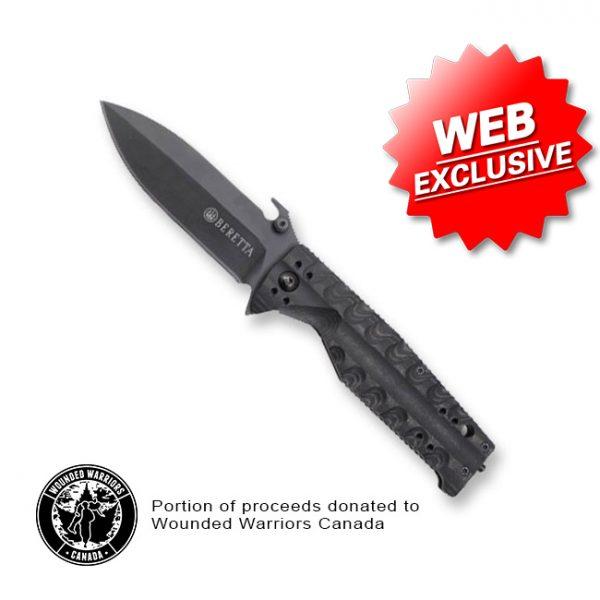 PB C072 Beretta TKX Titanium Micarta Knife Open Web