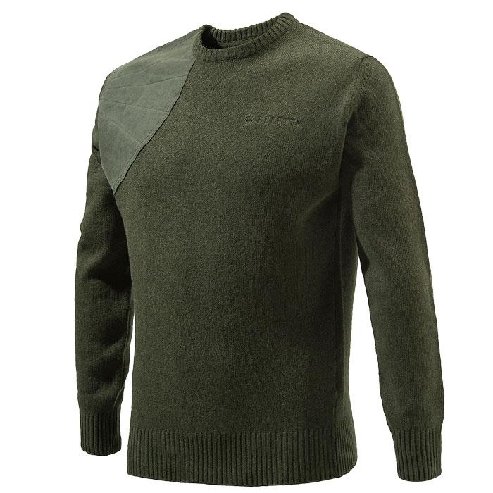 0cd6130874 Beretta Men s Classic Round Neck Sweater – Green – Stoeger Canada