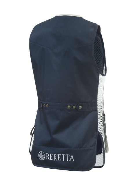GT111021130543 Beretta Womens Shooting Vest Blue Back