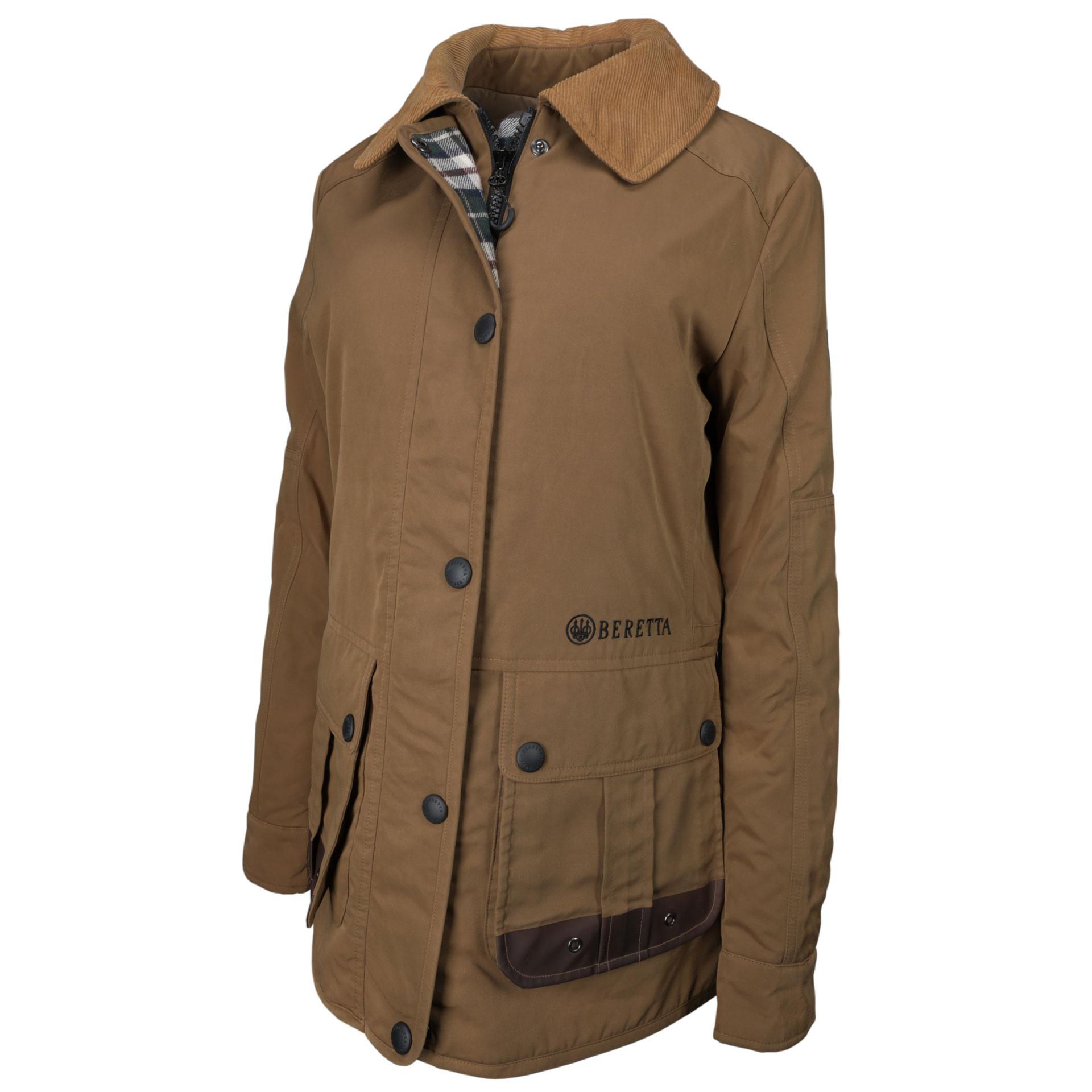87385e3fa1 Beretta Women s Waxed Cotton Field Jacket – Brown – Stoeger Canada