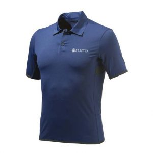Beretta Tech Shooting Polo Navy Front