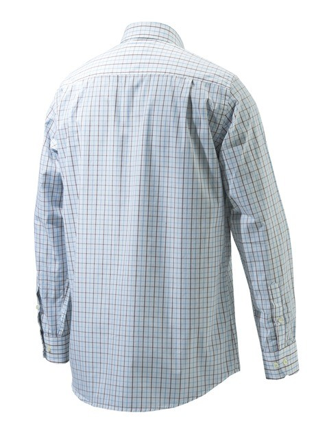 LU51007517010R Beretta Drip Dry Long Sleeve Shirt White Check BACK