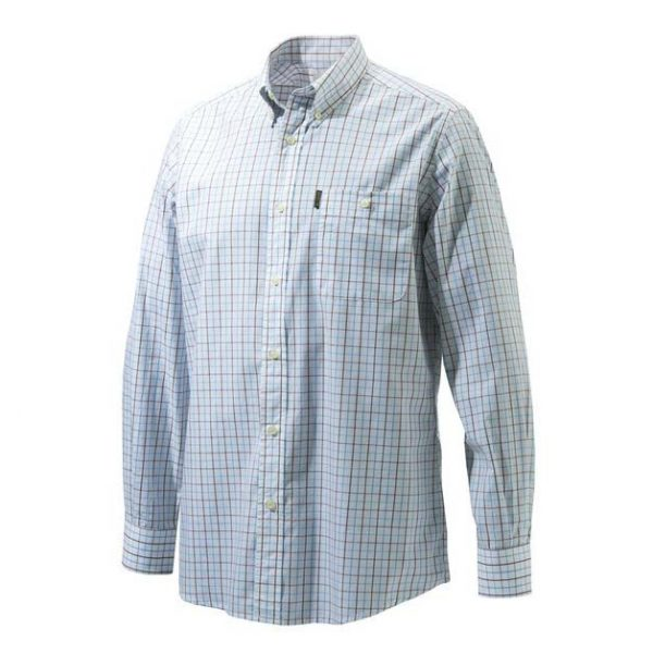 Beretta Drip Dry Long Sleeve Shirt - White Checker