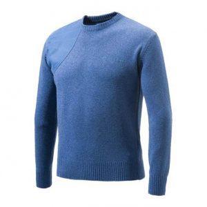 Beretta Classic Round Neck Sweater - Avio front