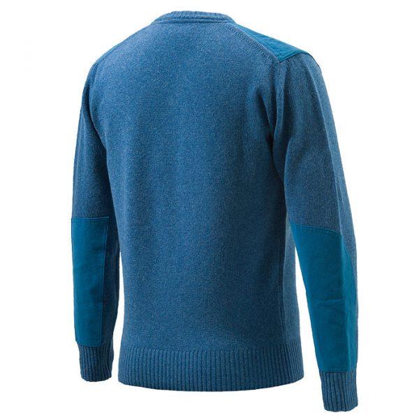PU451T11940538 Beretta V Neck Sweater Blue Back