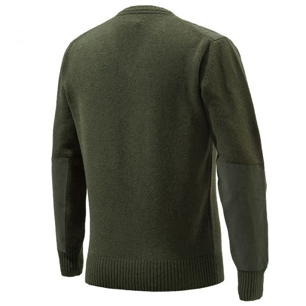 PU451T11940715 Beretta V Neck Sweater Green Back