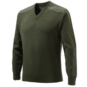 PU451T11940715 Beretta V Neck Sweater Green FRONT