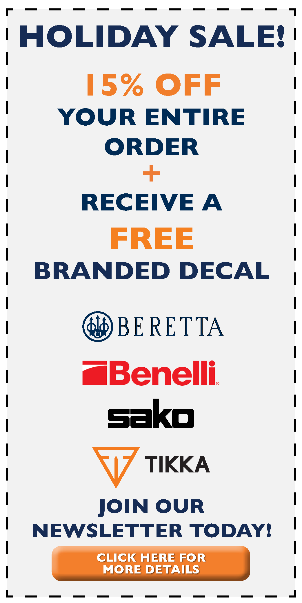 Beretta Holiday 2018 Promotion