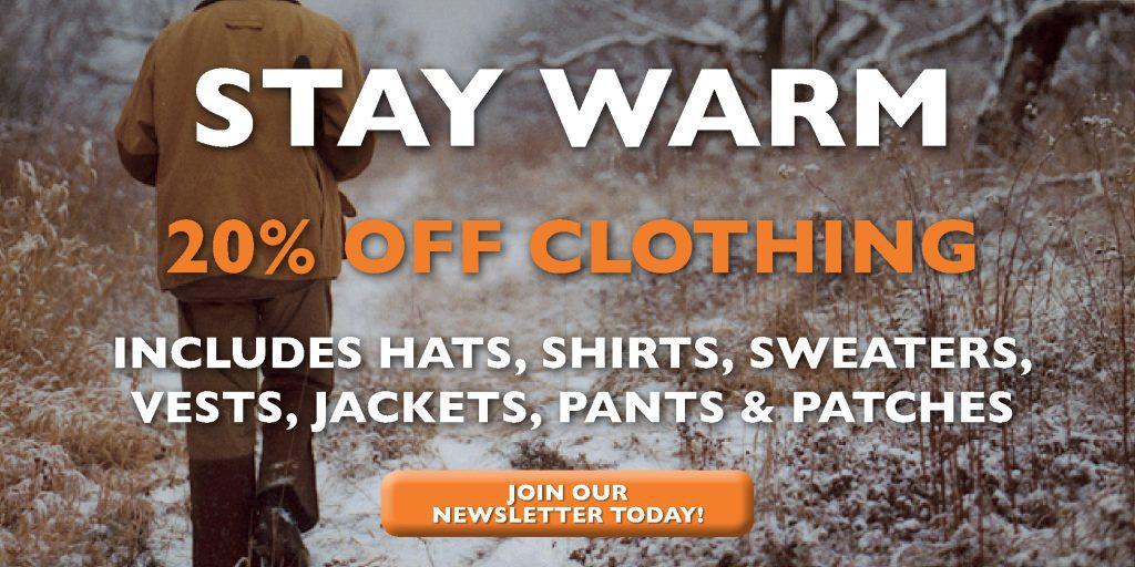 Beretta Canada Warm Clothing Sale January 2019