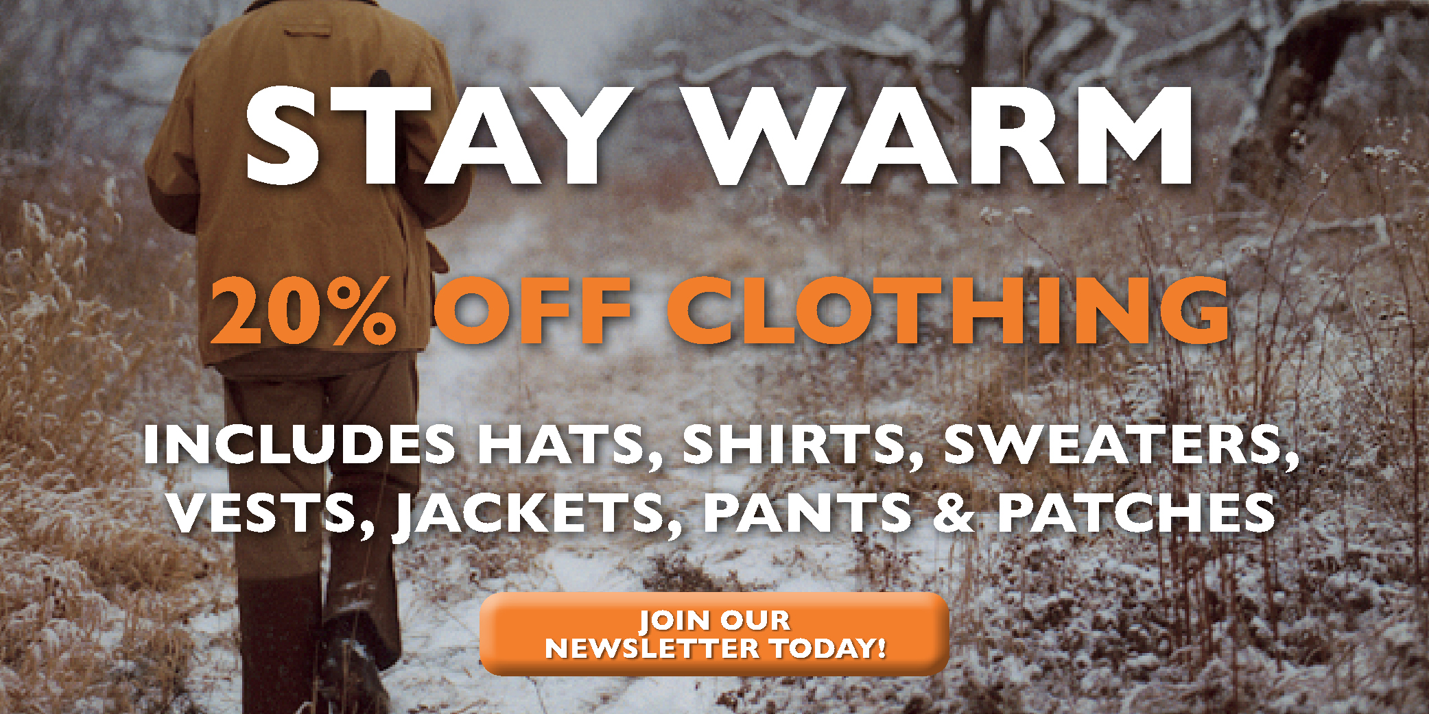 Beretta Canada Warm Clothing Sale January 2019