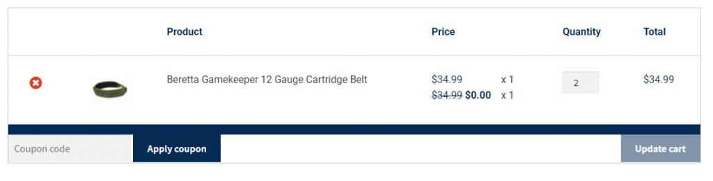 Beretta - Online Example Buy1 Get1 Free