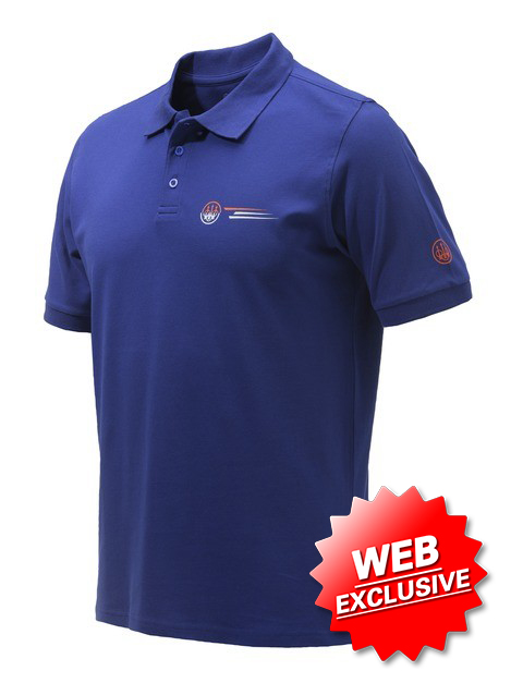 Beretta Broken Clay Polo Blue MP033T13540560 Web