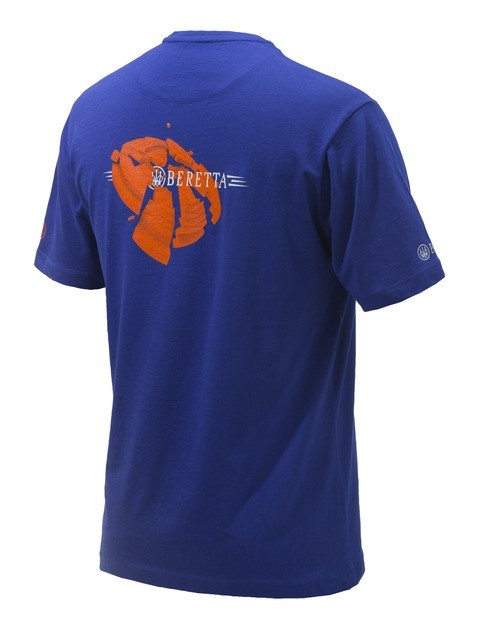 Beretta Broken Clay T Shirt Blue TS073T15570560 BACK