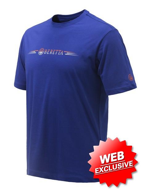 Beretta Broken Clay T Shirt Blue TS073T15570560 Web