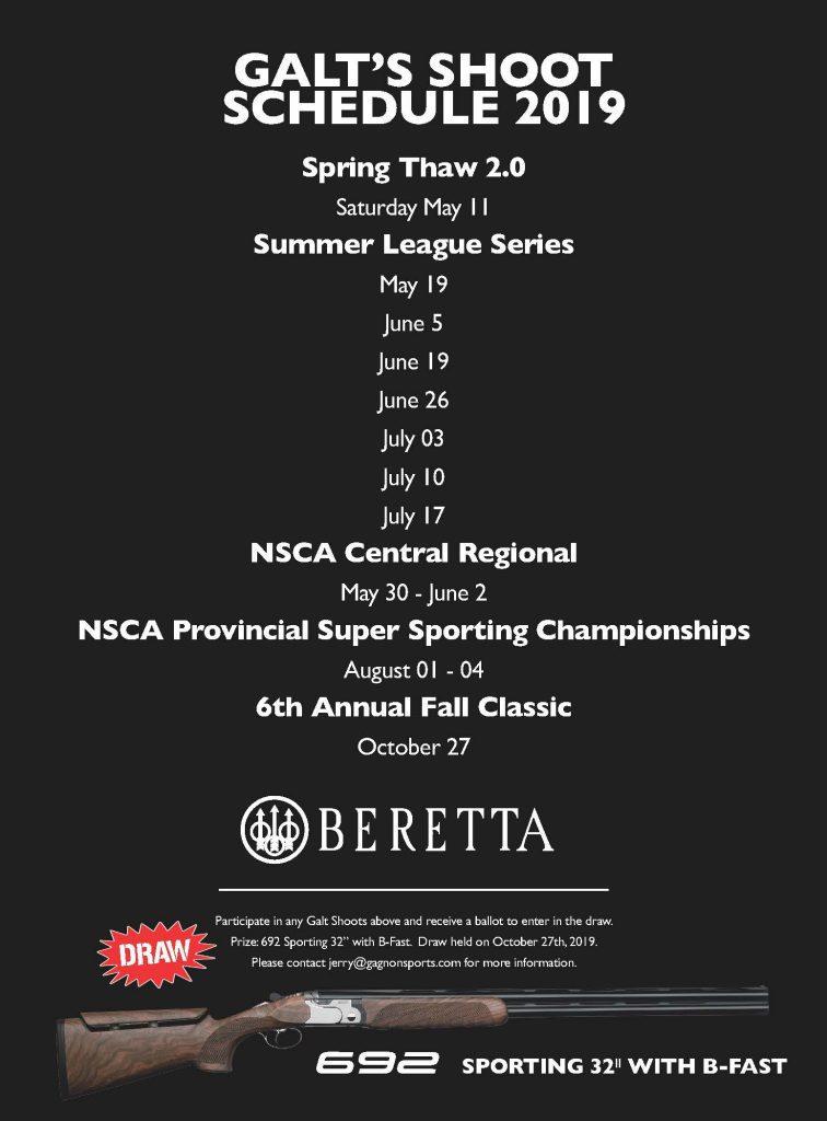 Galt Shoot Schedule Beretta Sponsor