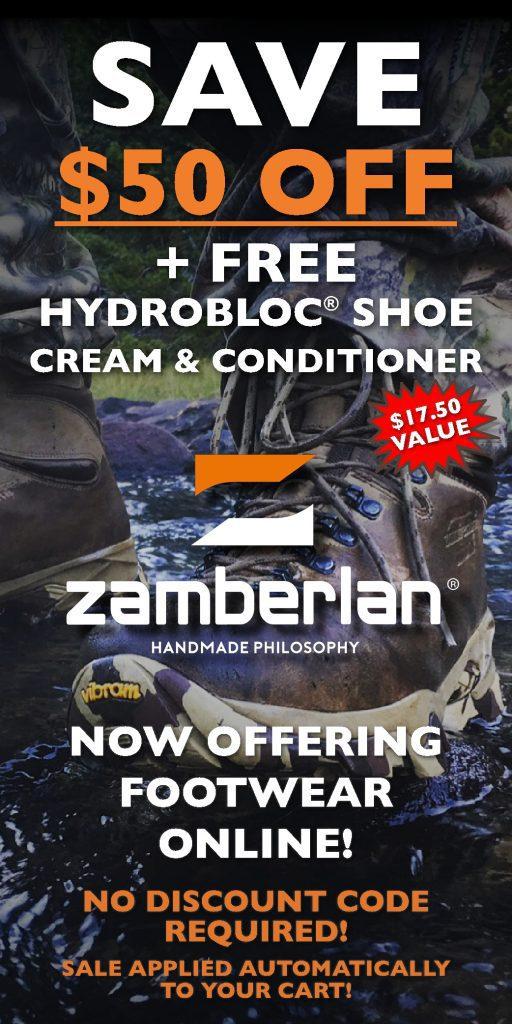 Zamberlan Online 50 Dollar Discount + Hydrobloc Widget