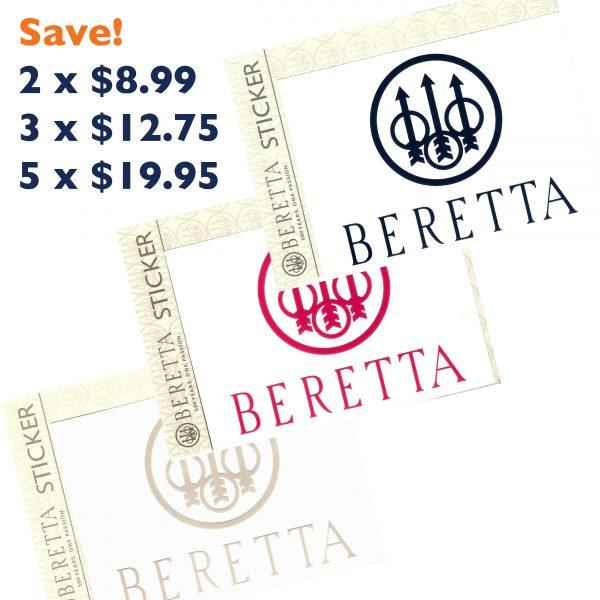 PDQ0007 Beretta Window Stickers Decal All Sale