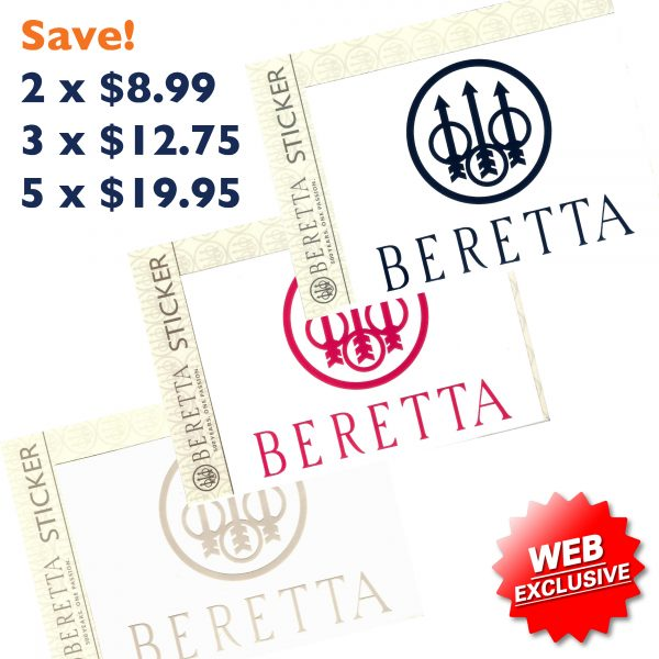 PDQ0007 Beretta Window Stickers Decal All Web