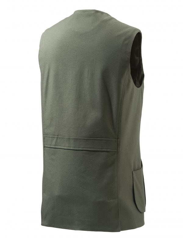 GU752T1295070B Beretta St James Cotton Vest Green Back