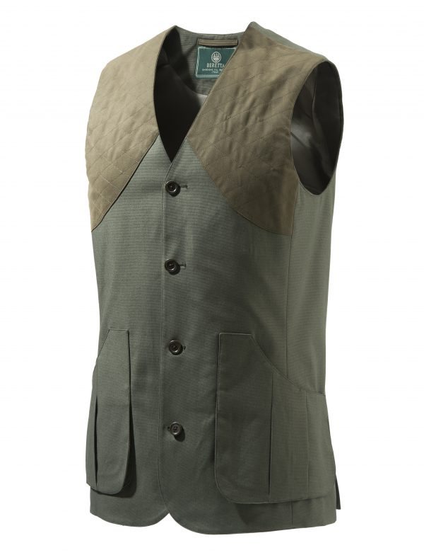 GU752T1295070B Beretta St James Cotton Vest Green Front