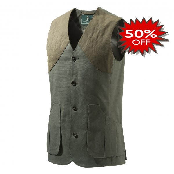 GU752T1295070B Beretta St James Cotton Vest Green Promotion
