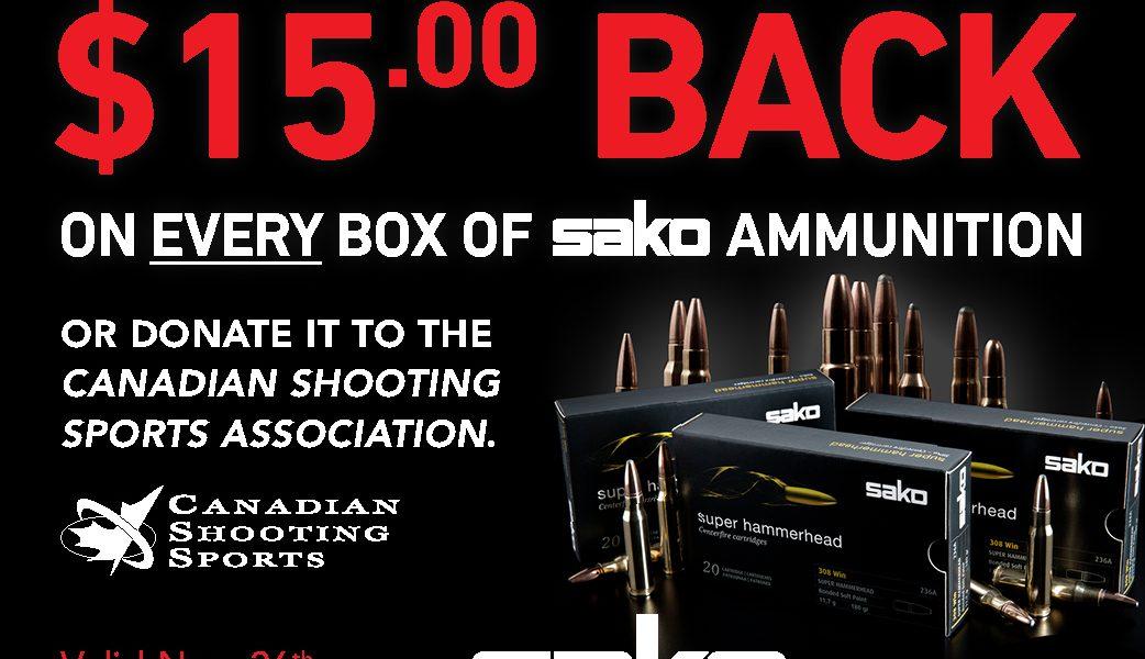 Sako Ammo Black Friday Promotion $15 Rebate