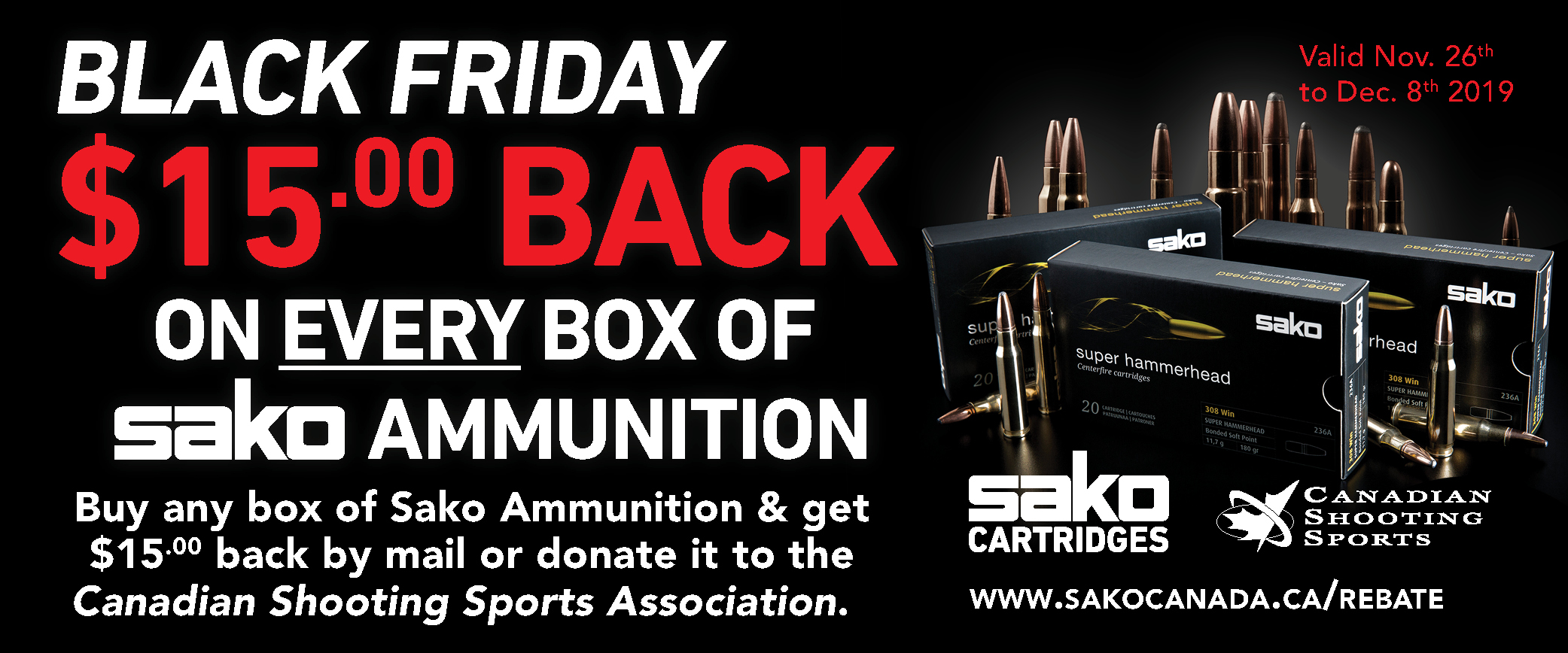 Sako Ammo Black Friday Promotion 2019 $15