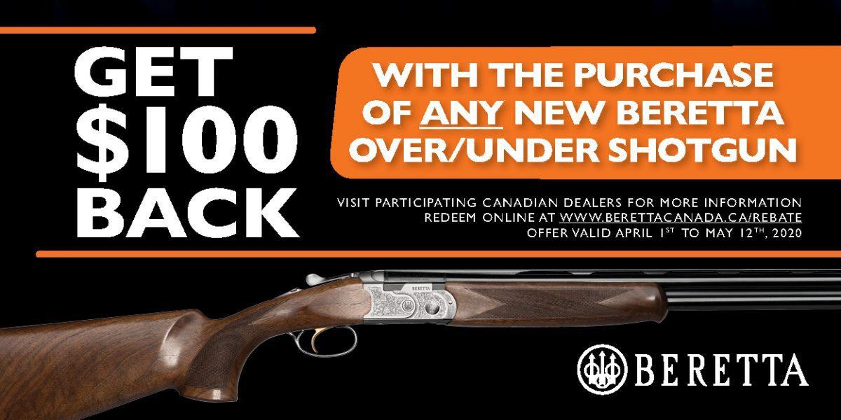 Beretta 100 Off OU Promotion 2020 Banner 300x600