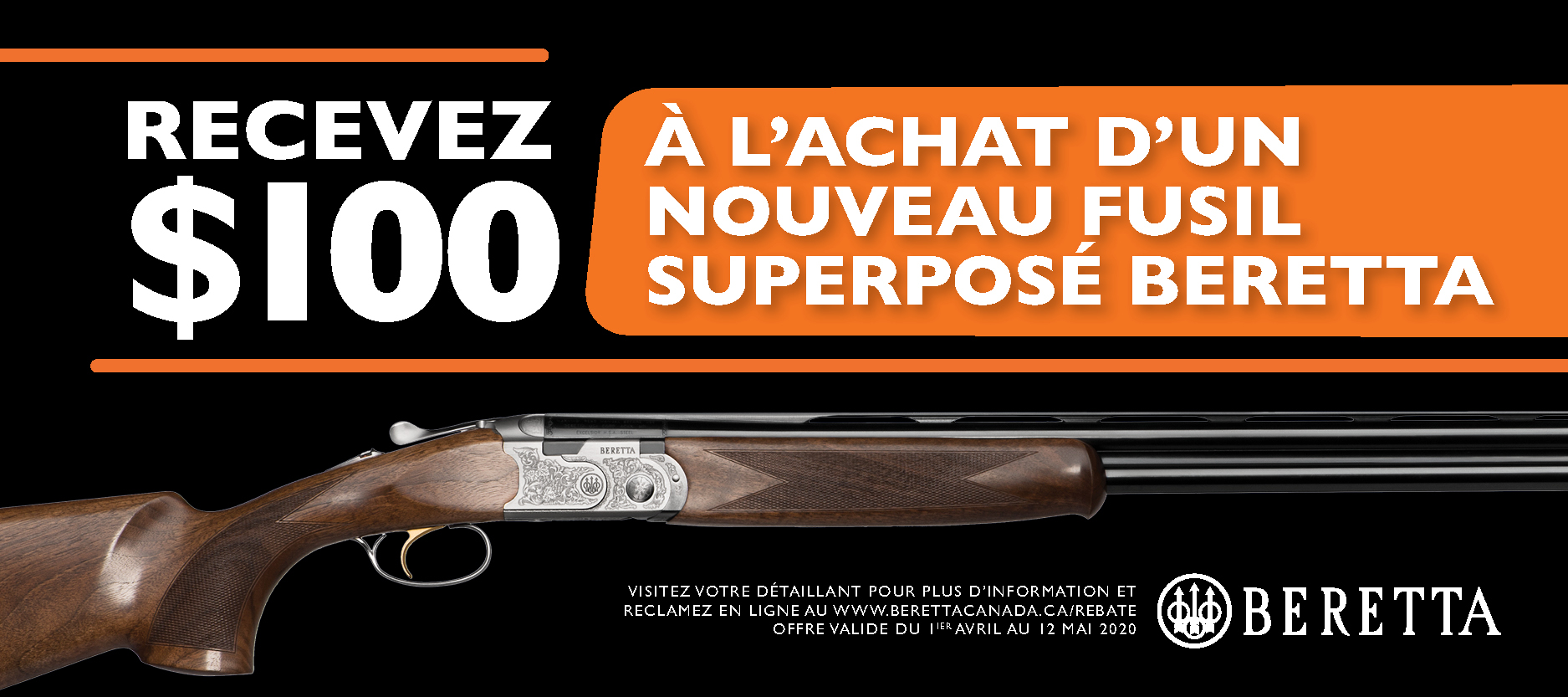 Beretta 100 Off OU Promotion 2020 Banner 400x900 FR