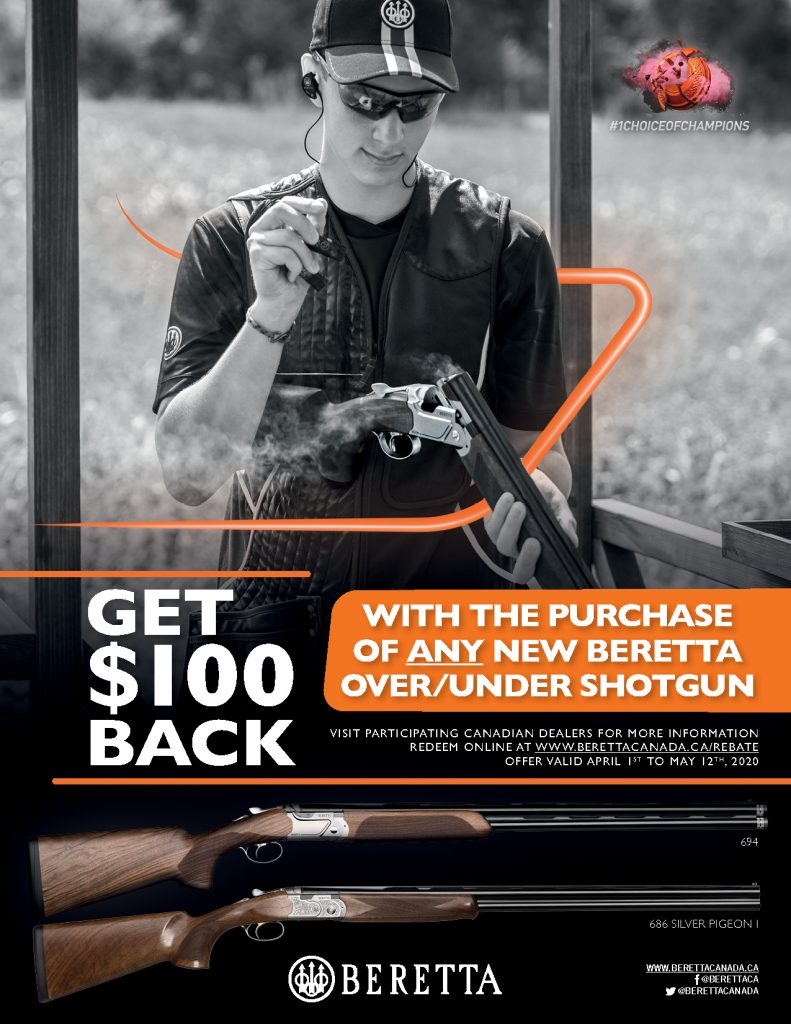 Beretta 100 Off OU Promotion 2020 Poster Front