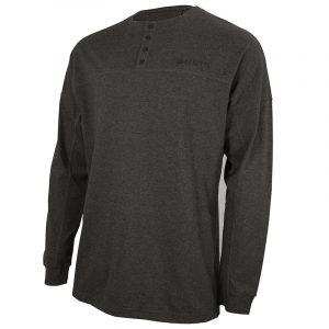 TS242T14350918 Beretta Henley LS Cotton Shirt Dark Grey