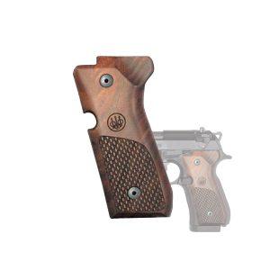 E00219 BERETTA 92 And 96 SERIES WOOD GRIPS On Handgun