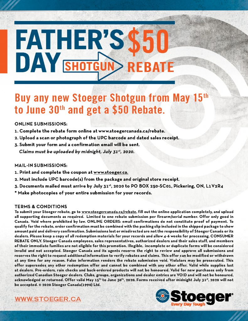 Stoeger 50 Rebate Terms And Conditions
