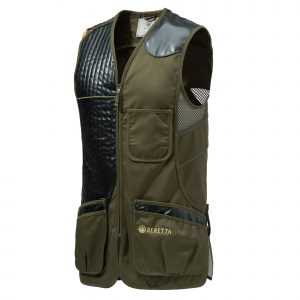 ECO LEATHER VEST OLIVE