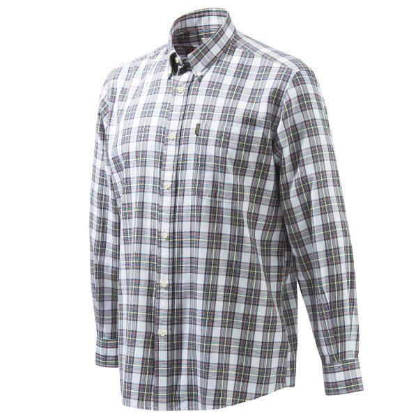LU210T16450193 - Beretta Classic Shirt LS - White and Blue Check