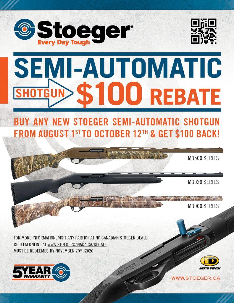 Stoeger SA 100 Rebate Poster