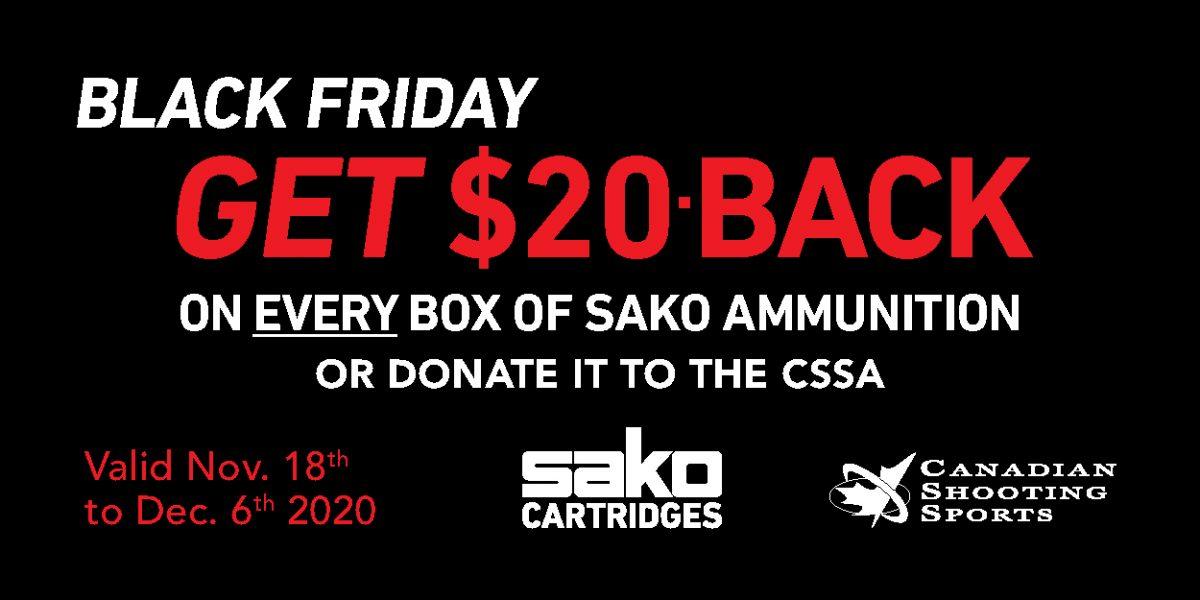 Sako Ammo Black Friday Promotion Web Banner 300150px