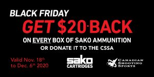 Sako Ammo Black Friday Promotion Web Banner 300150px