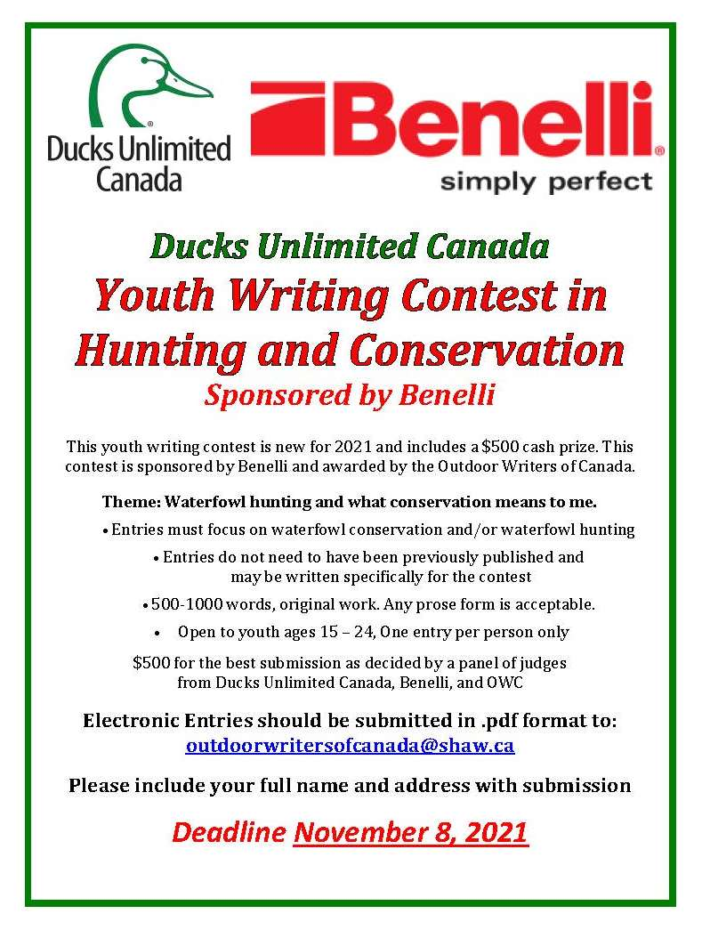 Ducks Unlimited Canada - Youth Writing Contest