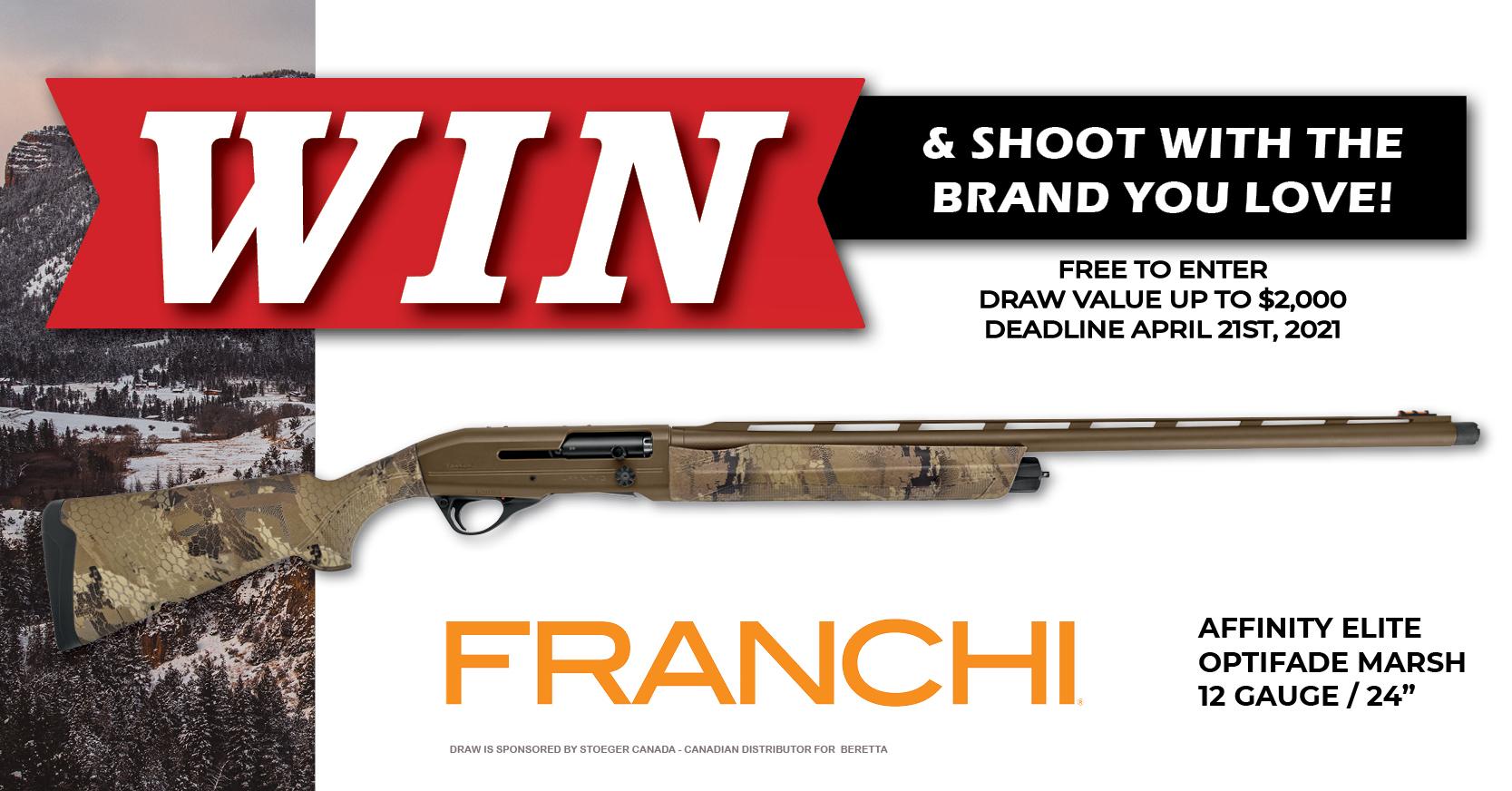 Firearm Draw 2021 FRANCHI Facebook