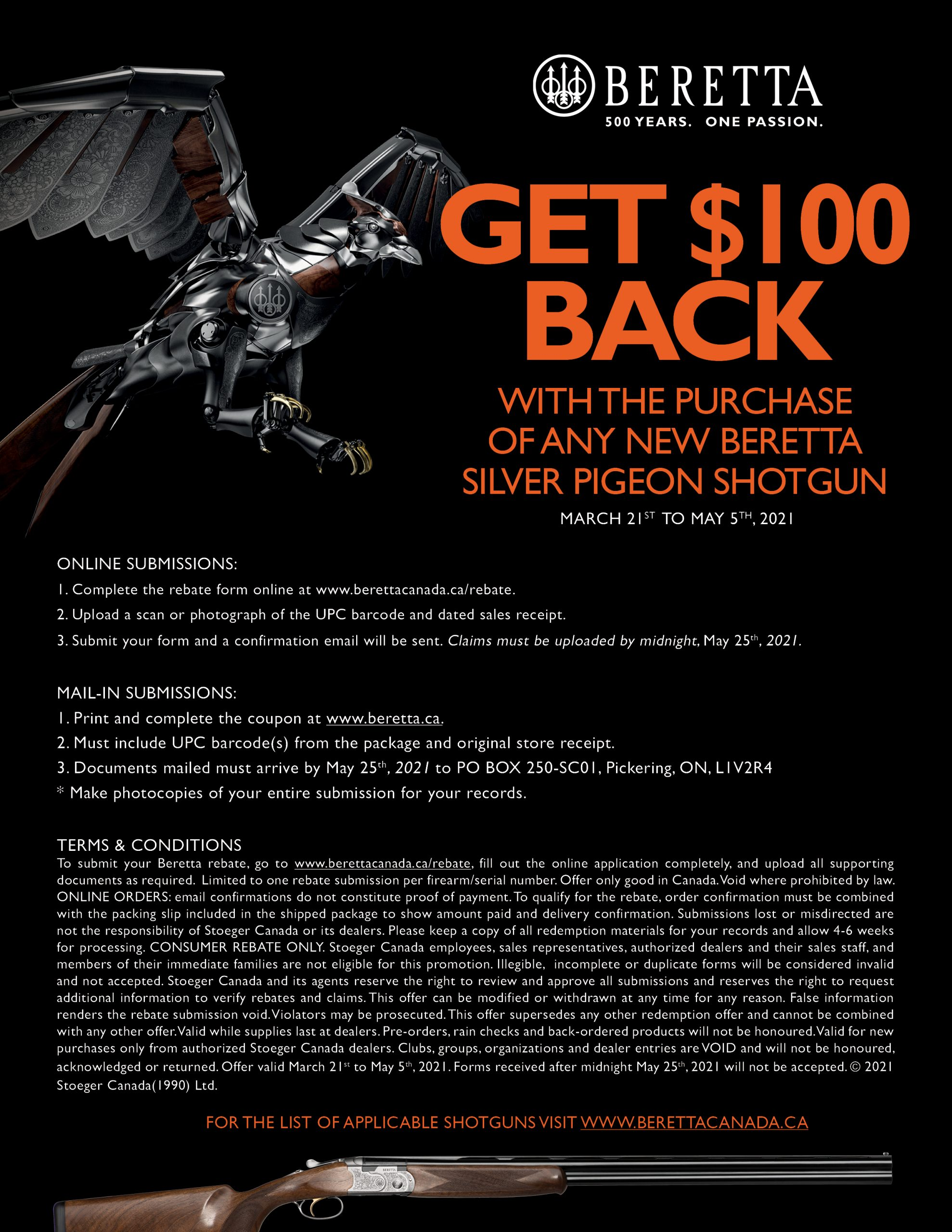 Beretta 100 Off SP 2021 Terms And Conditions