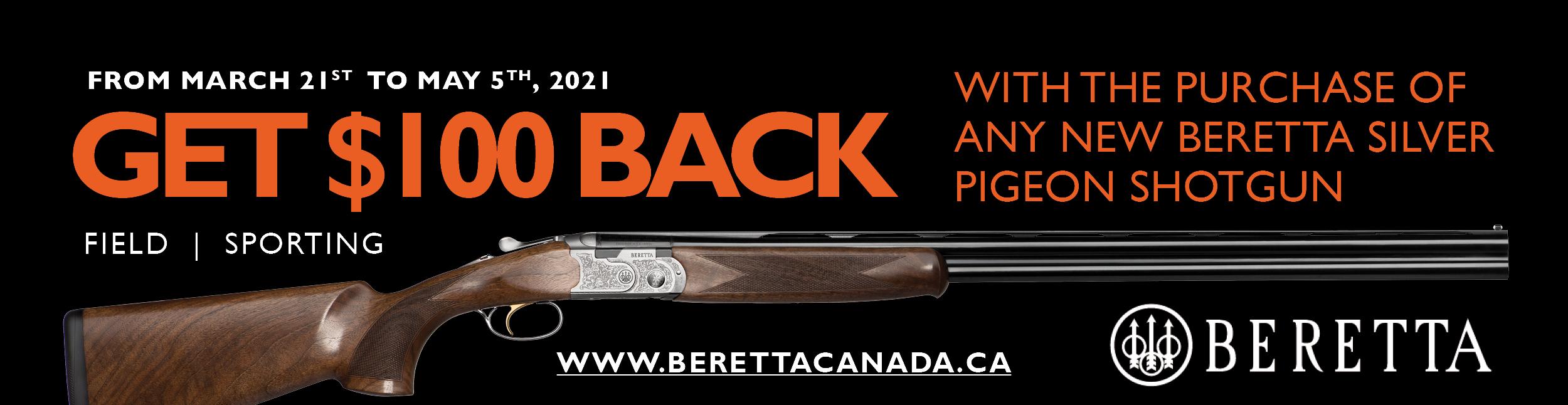 Beretta 100 Off SP Promotion 2021 Banner 600x155
