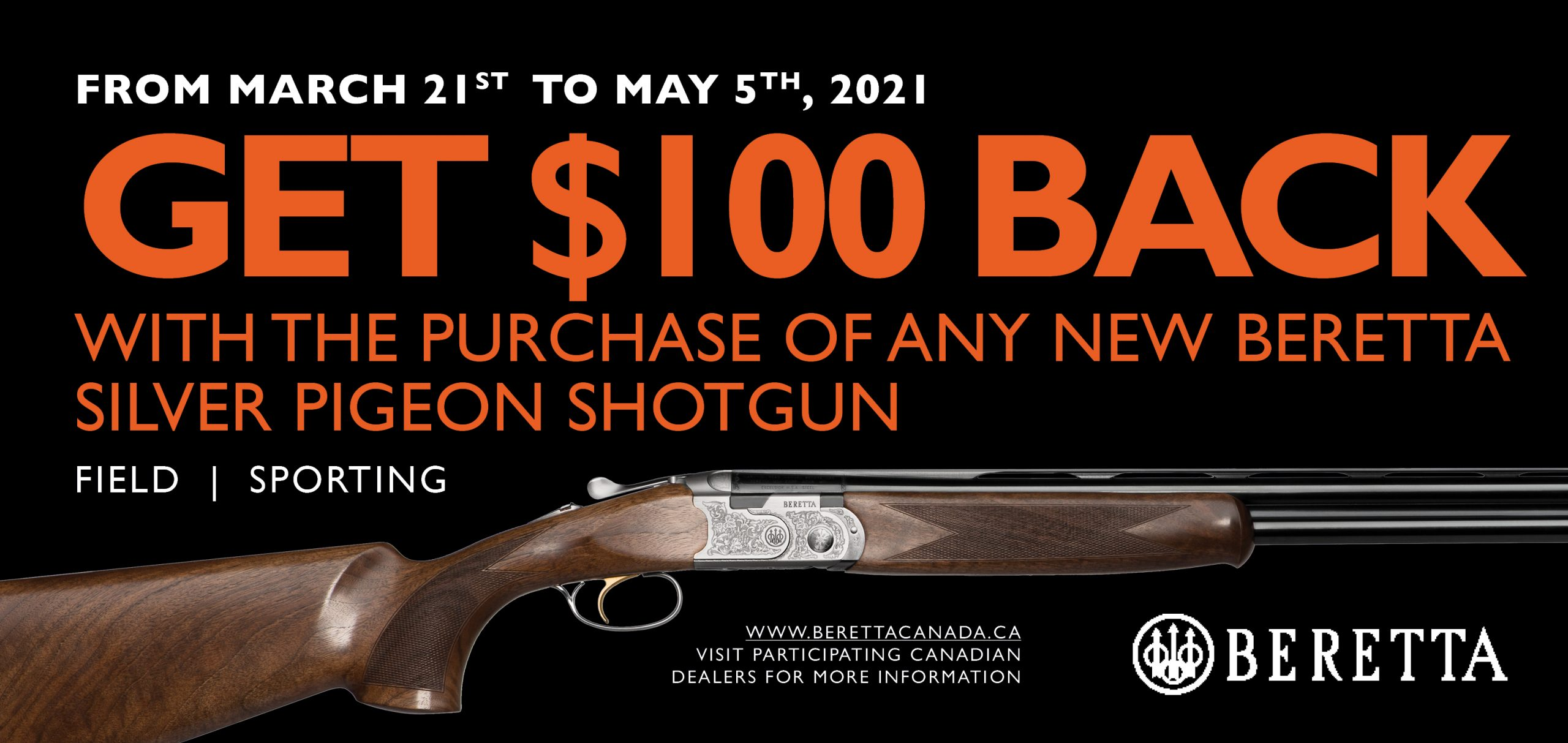 Beretta 100 Off SP Promotion 2021