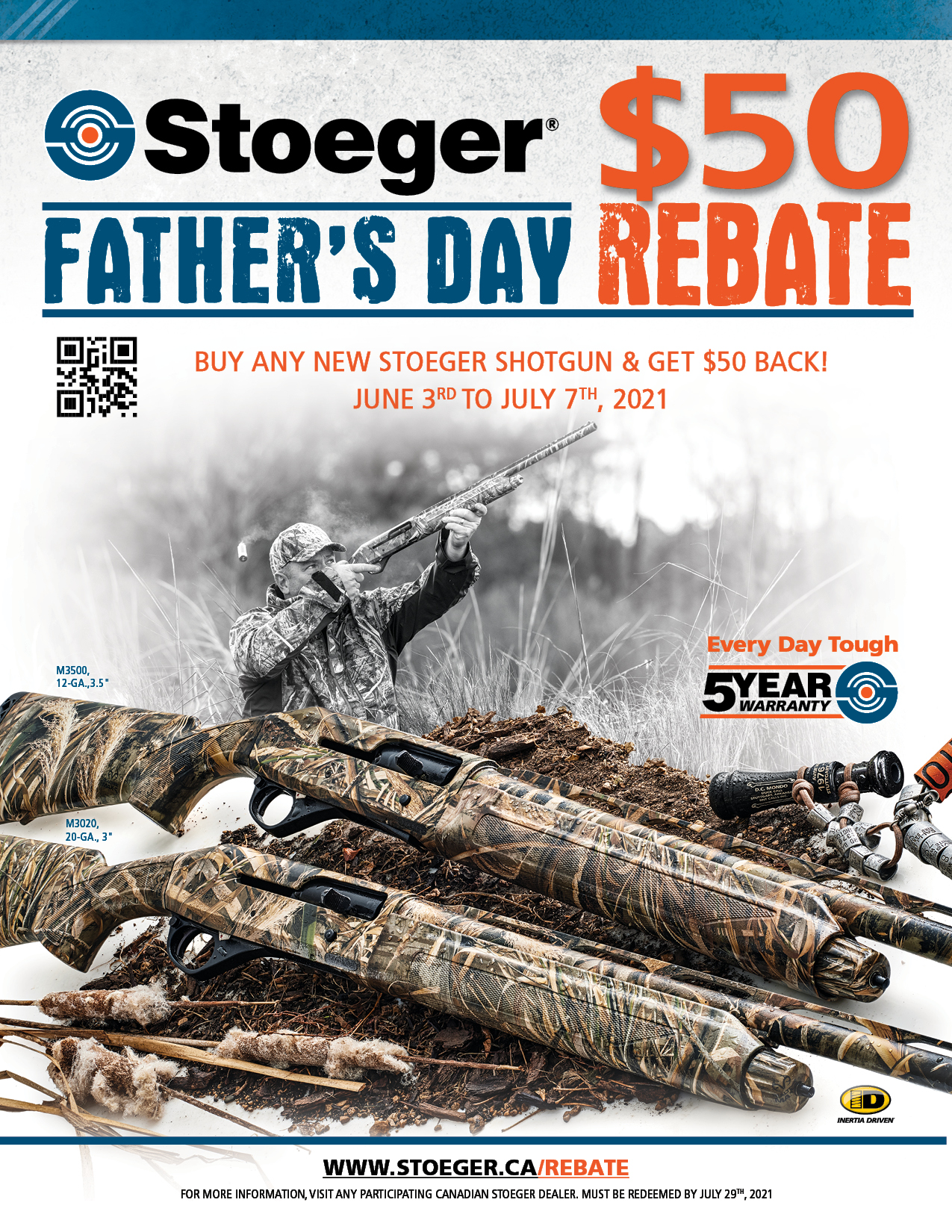 Stoeger Fathers Day Rebate 2021 Poster