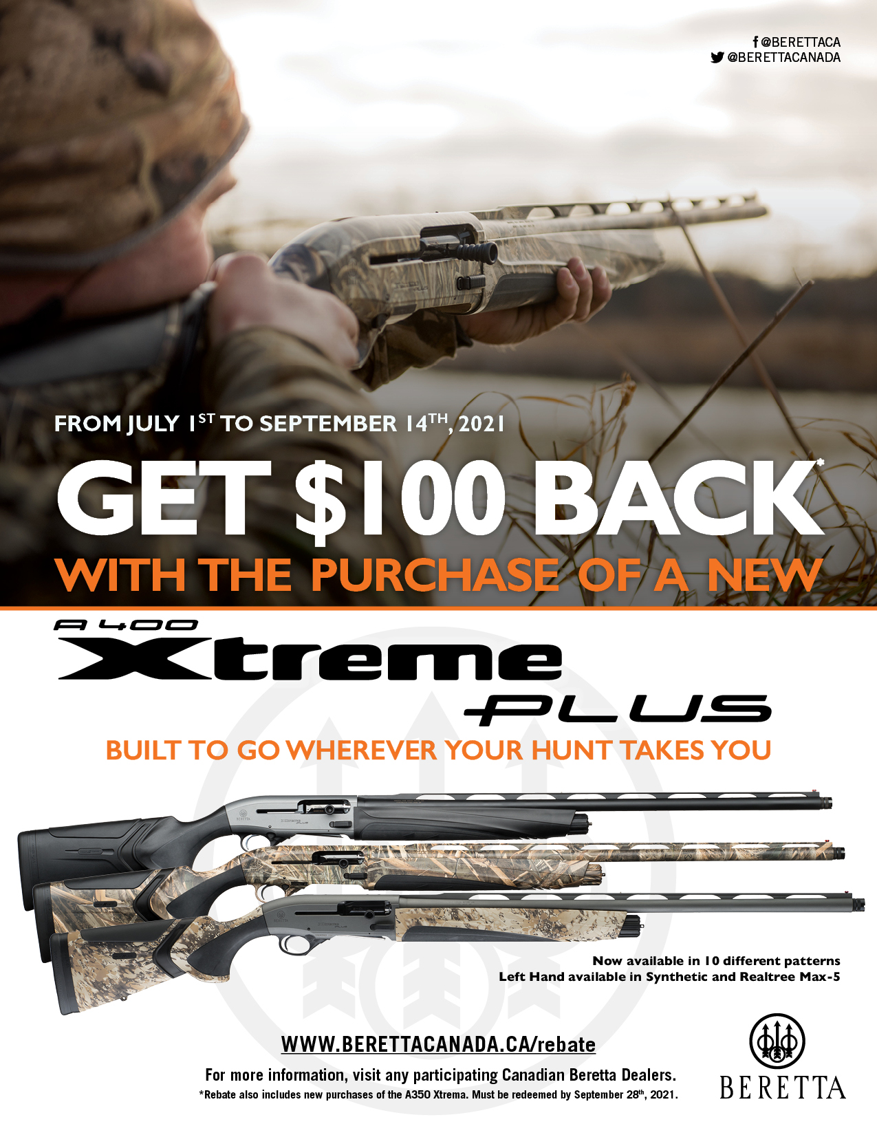 Beretta 100 Off A400XP Promotion 2021 Poster