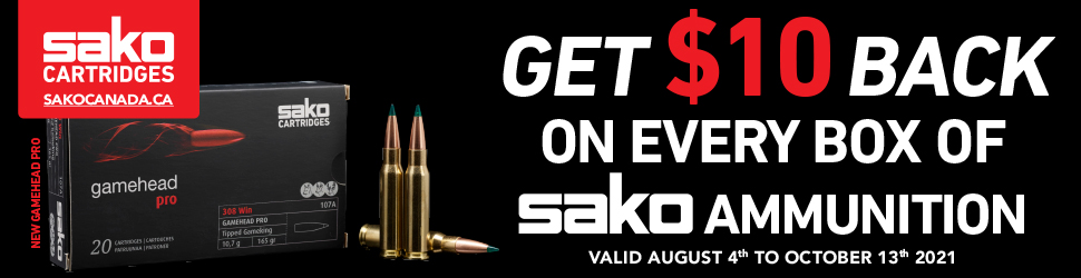 Sako Ammunition Rebate 2021 970x250