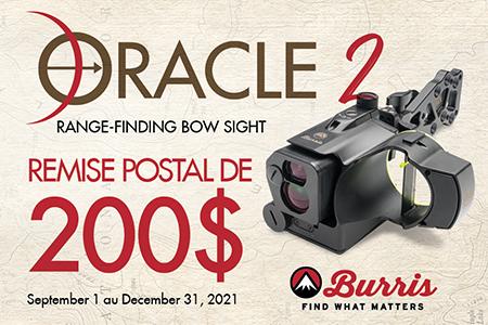 Burris Oracle 2 canada rebate 2021 - Box French